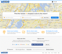 Mozio travel sign-in page