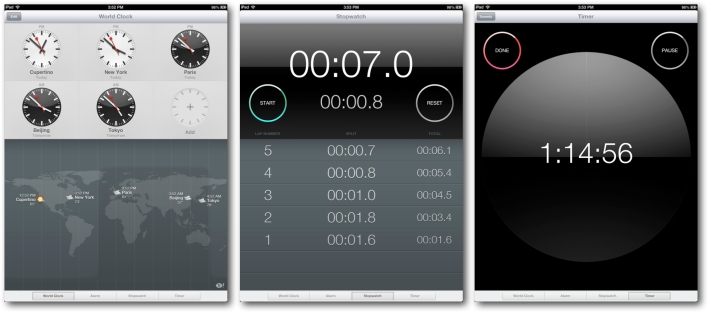 New iPad Clock App
