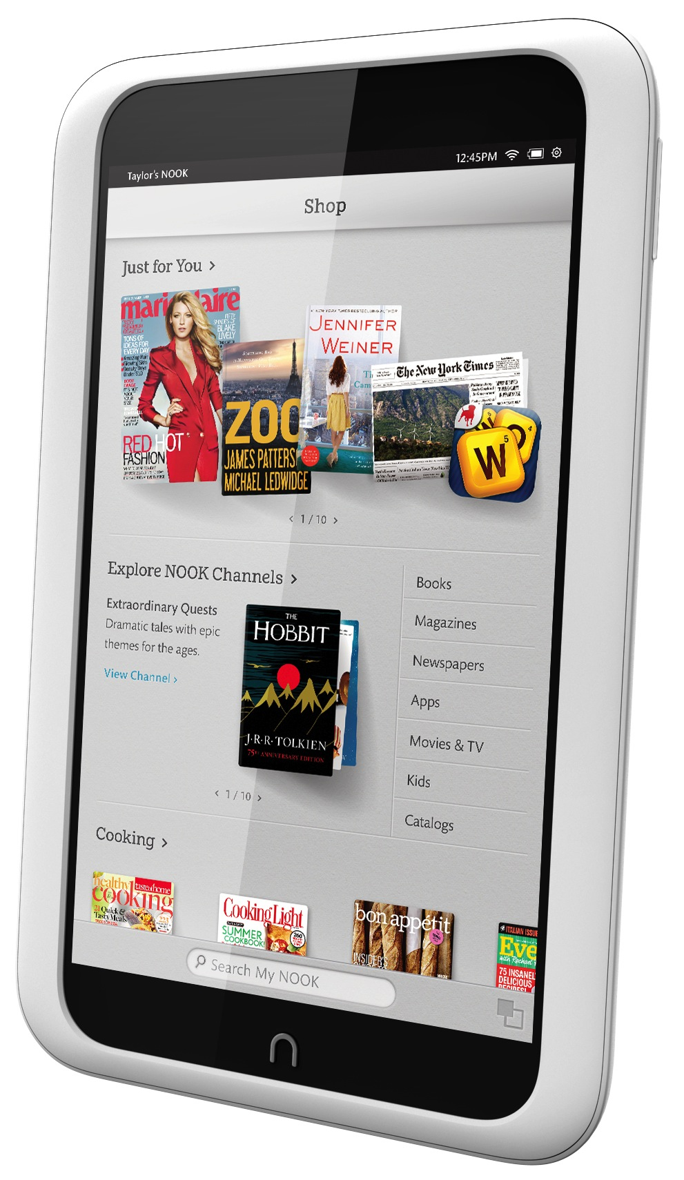 Barnes & Noble Nook HD shopping