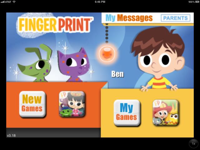 Fingerprint Play homepage image