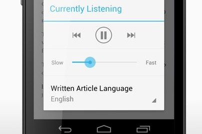Pocket reads the web aloud on Android