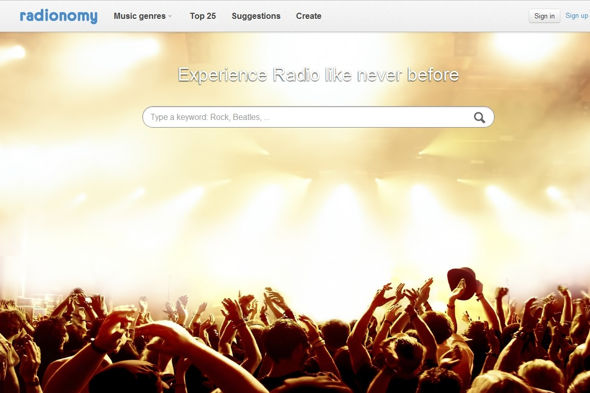 Radionomy home page #2 (Music fans)