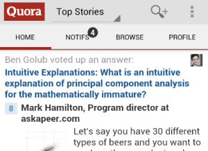 Quora Android app screenshot