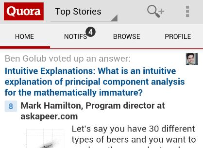 Quora Android app screenshot