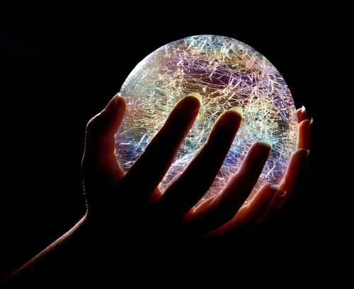 crystal ball colorful