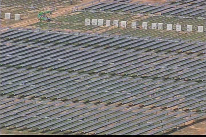 Aerial view of Apple's solar farm