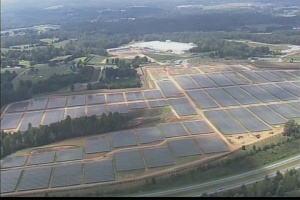 Apple solar farm aerial