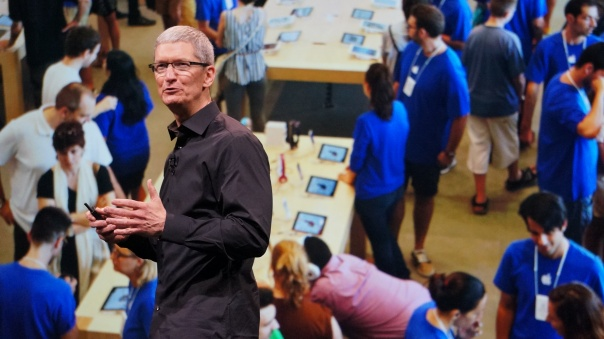 According to Cook, it's been a good year for Apple, which sold 7 million copies of Mountain Lion, the fastest-selling OS X ever.