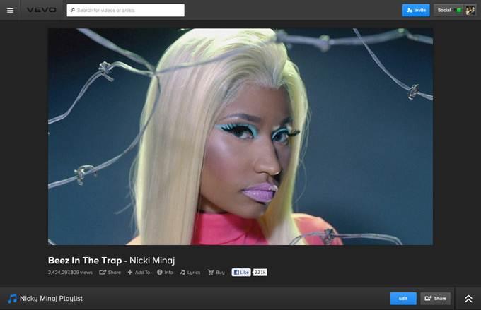 VEVO screenshot 1