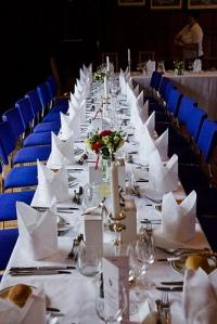 wedding reception dinner table napkins