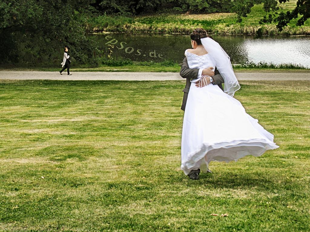 Couple wedding dress