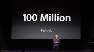100 million iPads sold Tim Cook iPad mini event