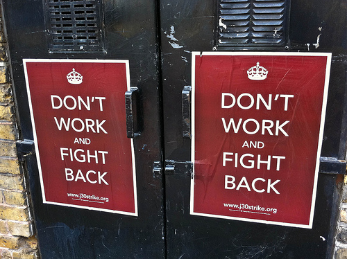 worker strike - don't work fight back