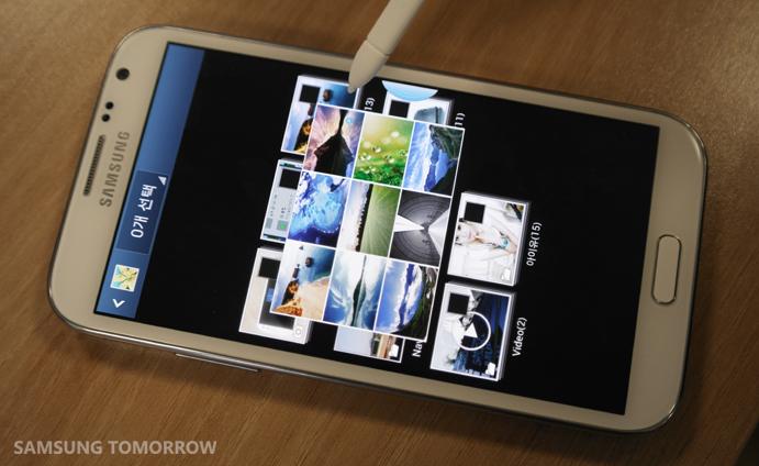 Galaxy Note 2 Air View