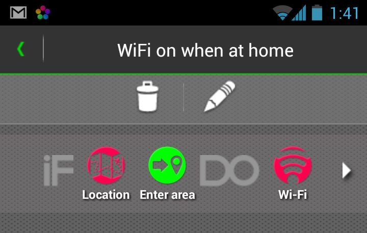Turn WiFi off when leaving home rule