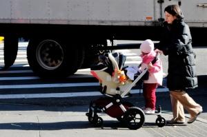 Mom mother babysitter kids stroller