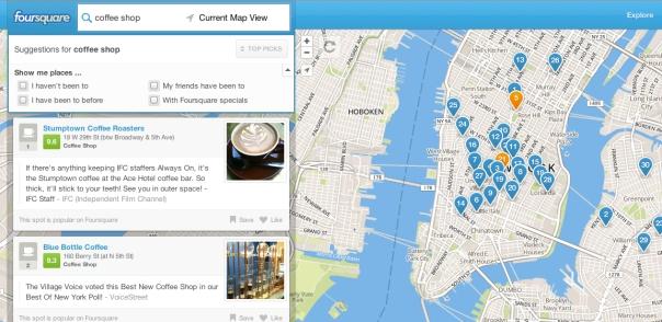 Foursquare, local search