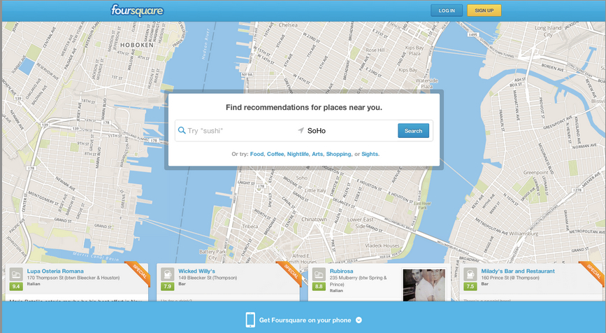 Foursquare, local search
