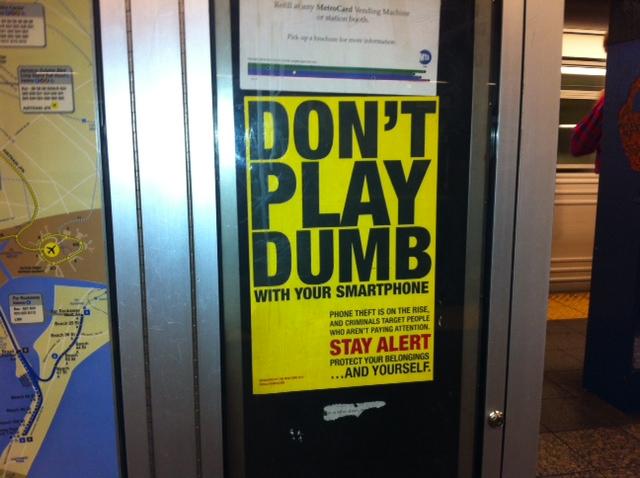 icrime, NYC subway poster