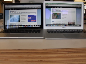 13-inch MacBook Pro retina with 13-inch macBook Air