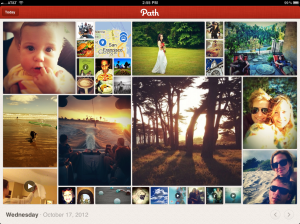Path iPad app landscape view
