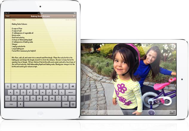 iPad mini notes and camera
