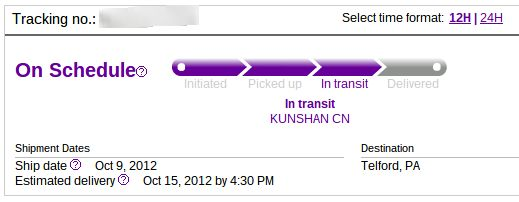 iPod touch tracking number