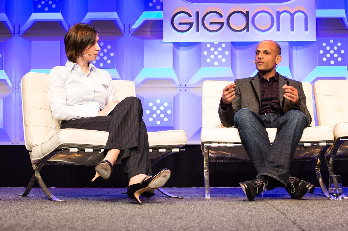 (L to R) Stacey Higginbotham of GigaOM and Jay Parikh of Facebook JULIADEBOER PHOTOGRAPHY  www.juliadeboer.com