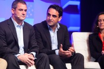Structure Europe 2012, Mark Cravotta of Tier 3; David Drai of Akamai and Pascale Vicat-Blanc of Lyatiss