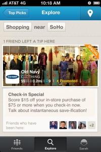 Foursquare, advertising