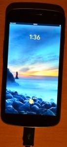 Galaxy Nexus running Open webOS