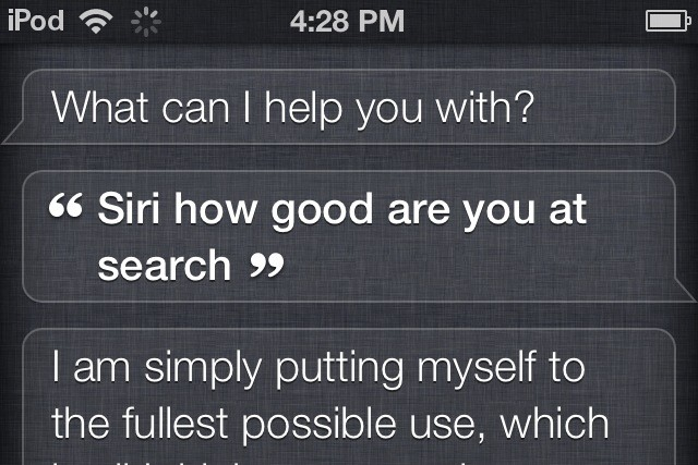 Siri search