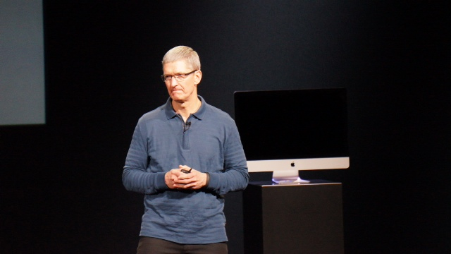 Apple CEO Tim Cook October 2012 iPad Mini event