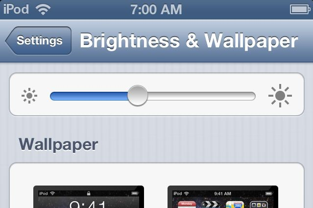 iPod touch 5th generation brightness