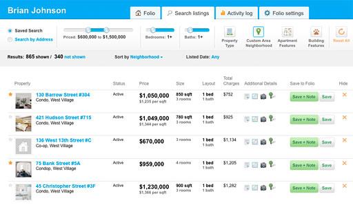 Buyfolio screenshot