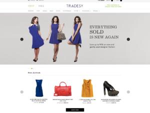 Tradesy clothing resale homepage screenshot