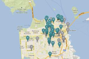 Wheelz screenshot cars available San Francisco