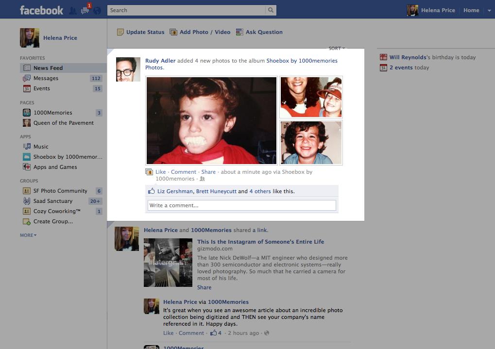shoebox facebook screenshot