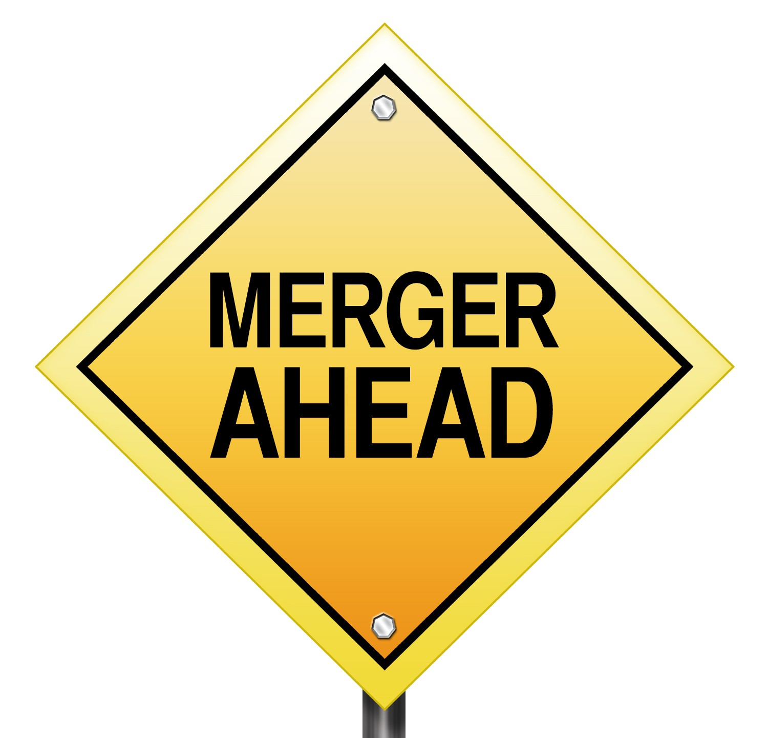 Merger ahead sign acquisition