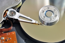 inside disk drive