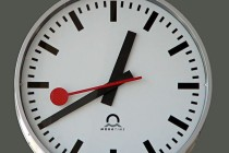 Swiss railway clock