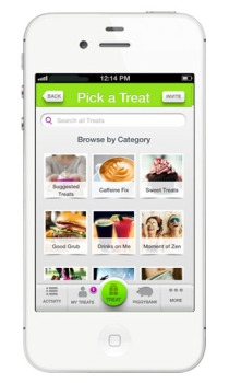 Treater iPhone App Pick a Category