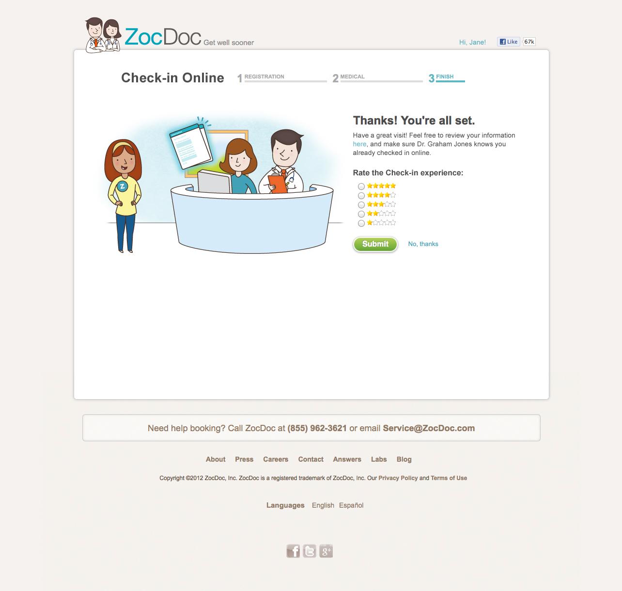 ZocDoc Check-In