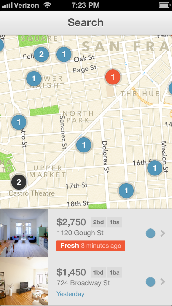 LiveLovely apartment rental app screenshot