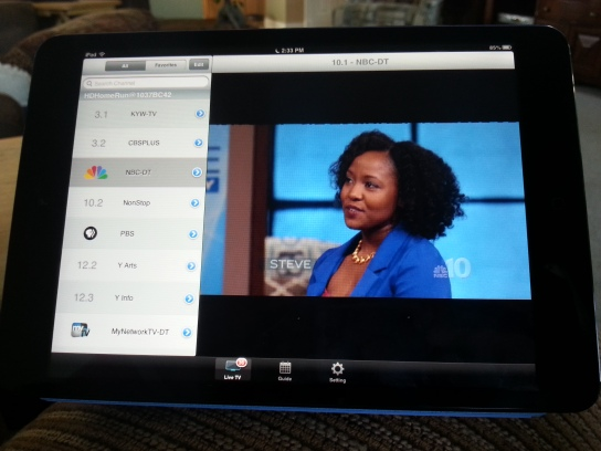 Live TV on iPad mini