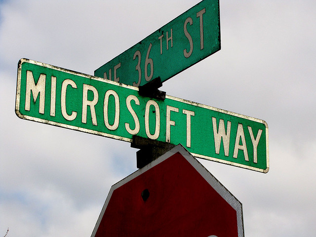Microsoft Way Sign