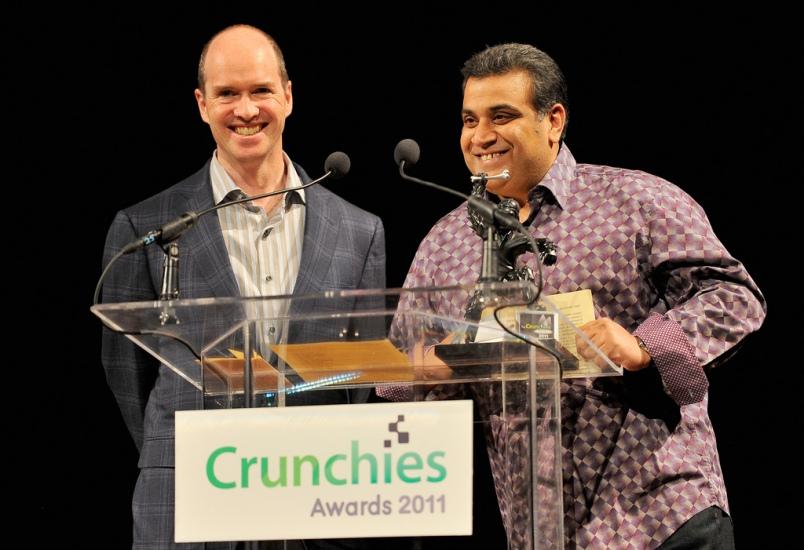 Ben Horowitz and Om Malik at the Crunchies, January 2012