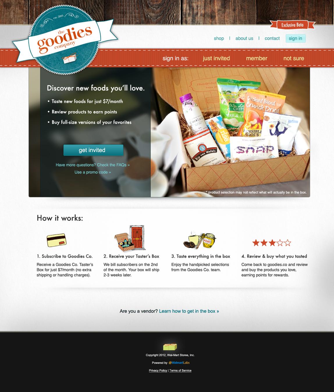 c.Goodies Co Homepage