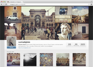 Screenshot Instagram web profile user photos