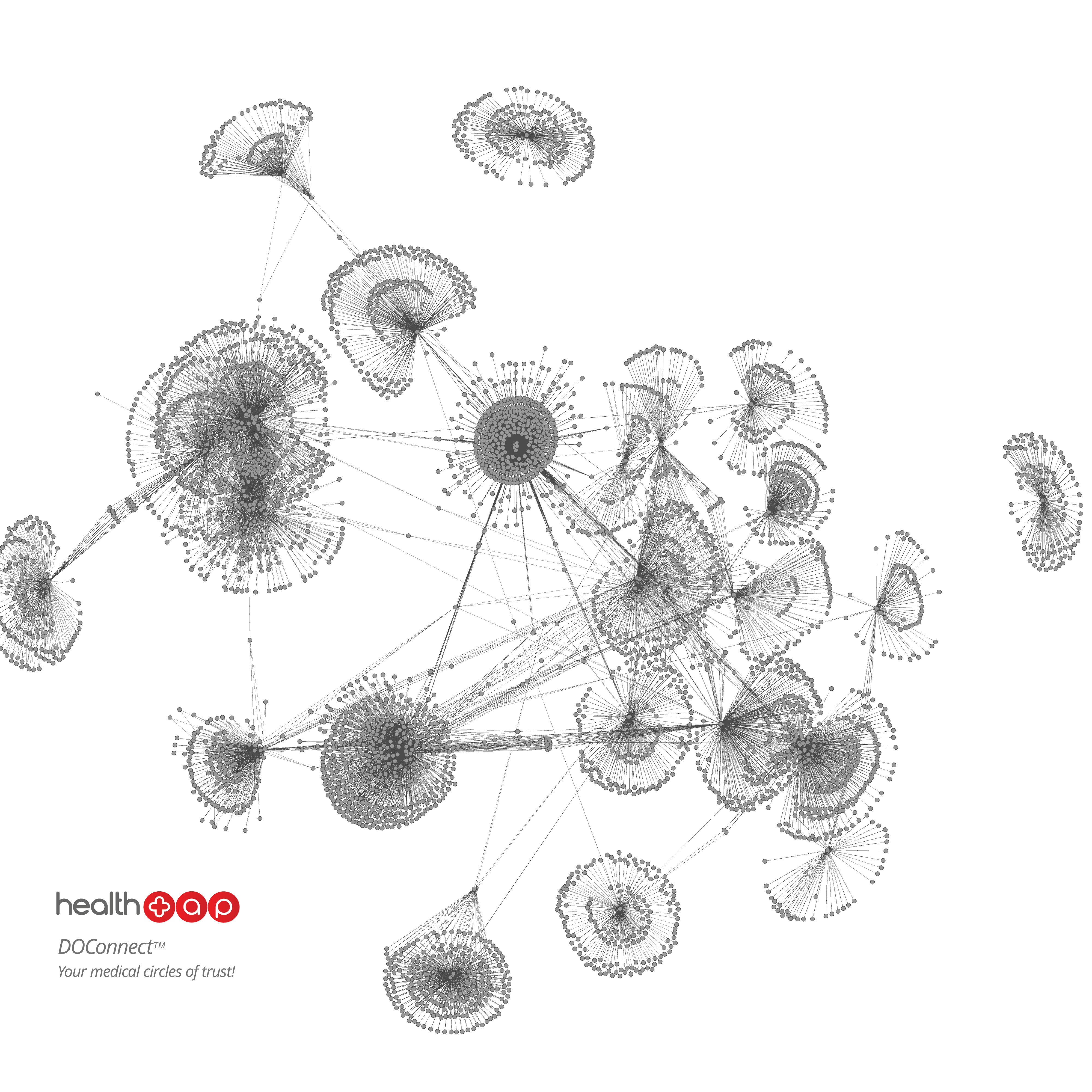 A HealthTap visualization of the connections between physicians on its site.
